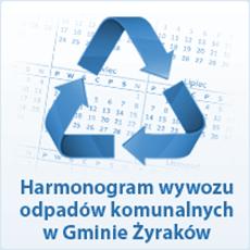 Harmonogram wywozu odpadów komunlanych w Gminie Żyraków